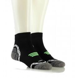 Kolesarske nogavice - BIKING 3D SPORT (črne z zelenim vzorcem)