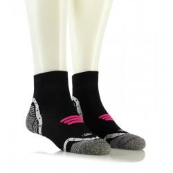 Kolesarske nogavice - BIKING 3D SPORT (črne s pinki vzorcem)