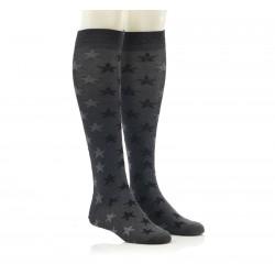 Dokolenke - temno sive z zvezdicami