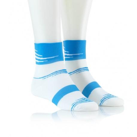Specialne kolesarske nogavice belo modre