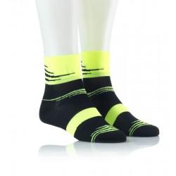Specialne kolesarske nogavice - črne z rumenim vzorcem