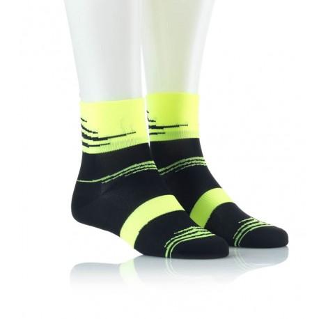 Specialne kolesarske nogavice črno rumene