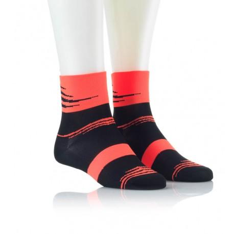 Specialne kolesarske nogavice črno orange