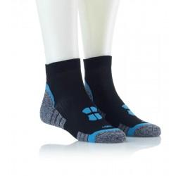 Tekaške nogavice - črne z modrim vzorcem