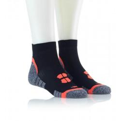 Tekaške nogavice - črne z oranžnim vzorcem