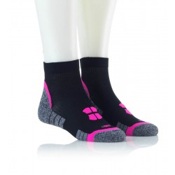 Tekaške nogavice - črne z pinki vzorcem