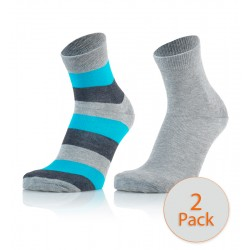 Otroške modne nogavice - črte antracit orange
