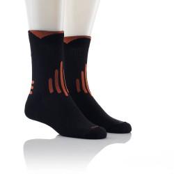 Športne nogavice - Multisport (črne z oranžnimi črtami)